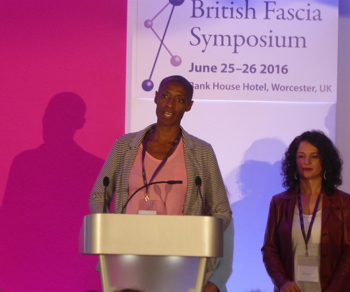 Receiving 2nd prize at British Fascia Symposium for research presentation